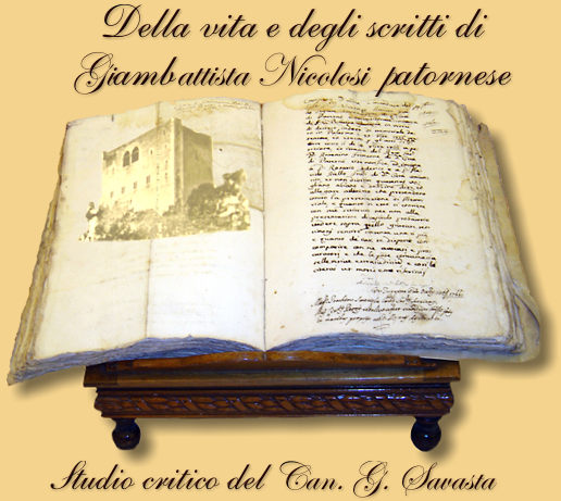 Savasta della vita e degli scritti di Giovan Battista Nicolosi